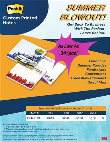 Summer Blowout on Post-it® Brand Notes