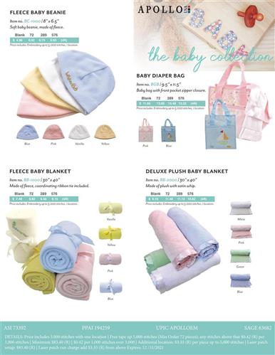 April Showers . . . Rain . . . Baby Showers? Apollo USA Baby Collection Promotional Items