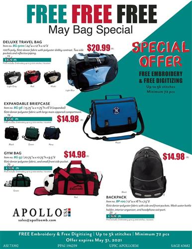 FREE FREE FREE - May Bag Special