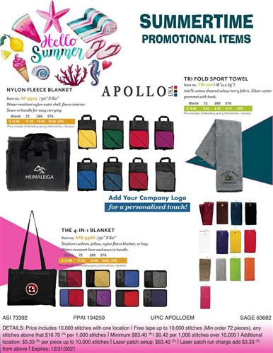 June Summer Time Promotional Items