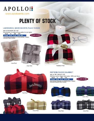 Fleece Blankets - Plenty of Stock