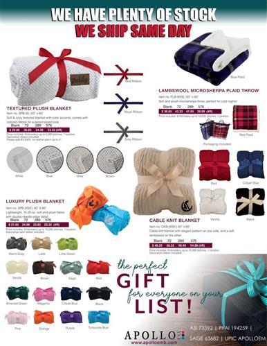 We Have Plenty of Stock Promotional Soft Blankets