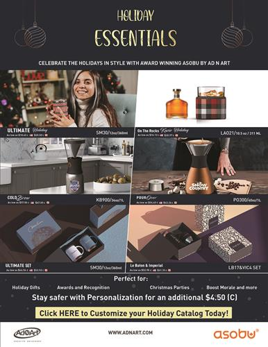 Holiday Drinkware Essentials - Award Winning Retail Products, High End Packaging and more!
