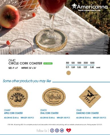 Fall In Love With These Cork Coasters