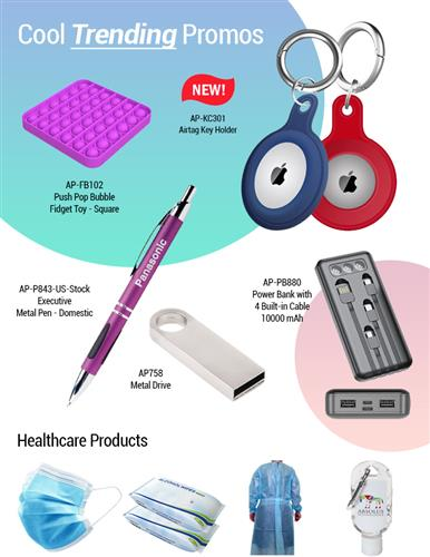 HOT! Airtag Key Holder, USB Drives, Pens, Power Banks, PPE Products. US STOCK Order Now!