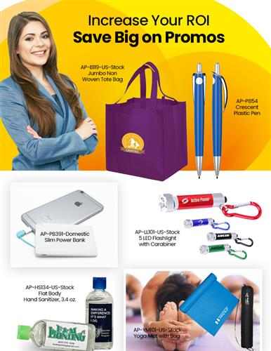 Save Big on Custom Print Pens, Bags and PPE Promos. Hurry order now!