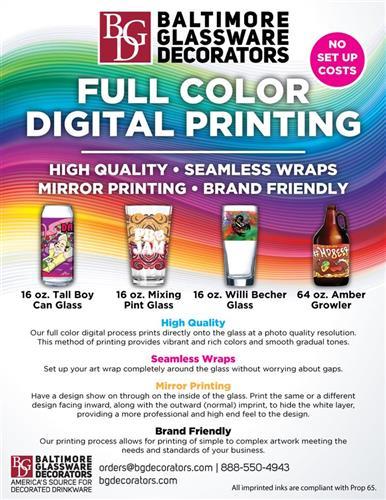 Full Color Digital Printed Glasses – No Set Up Fees