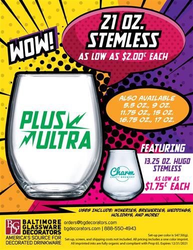 2021 Stemless Glassware