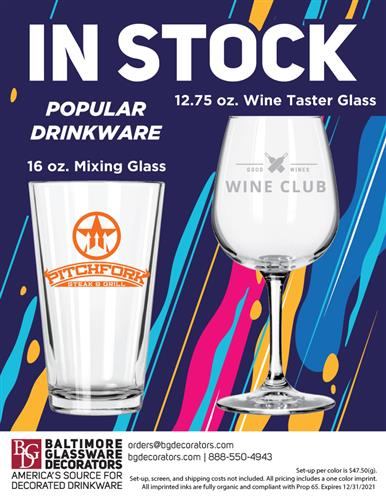 IN STOCK! Popular Mixing and Wine Glasses