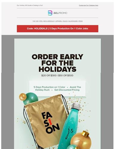 Order Early for the Holidays!