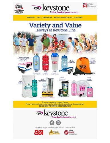 You always can find variety at Keystone. ...and value!