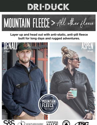 Mountain Fleece: Unbeatable Comfort From DRI DUCK