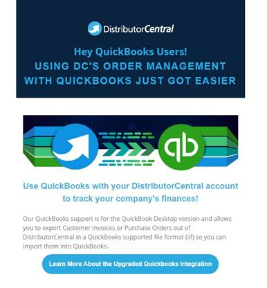 Easily flow your orders from DC into QuickBooks with our latest updates.