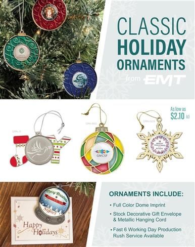 Holiday Ornaments - In Stock!