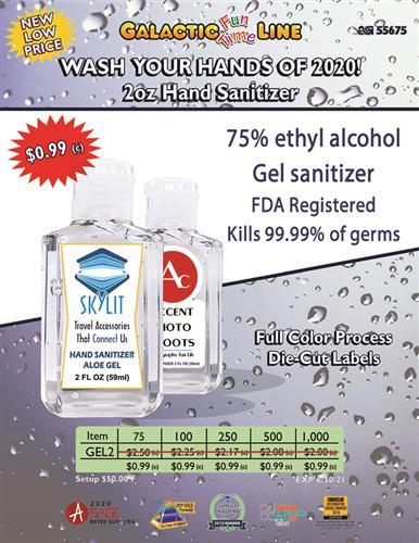 Gel Sanitizer Now $0.99 C