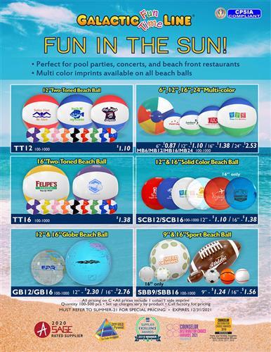 Enjoy Fun in the Sun with Promo Beach Balls