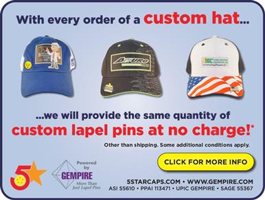 Order Custom Hats, Get the Same Quantity in Lapel Pins!
