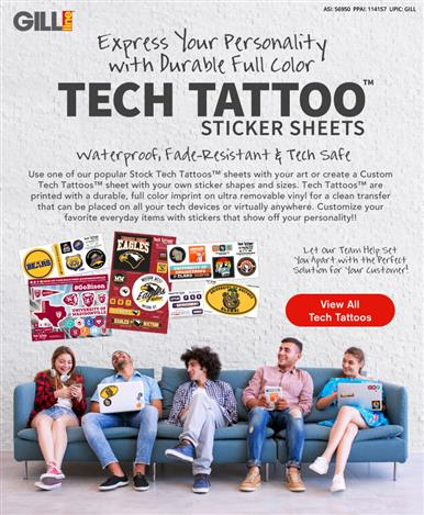 Brighten Up Back to School with Tech Tattoo Sticker Sheets!