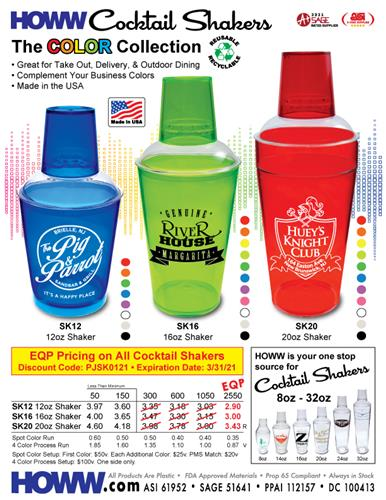HOWW is Your One Spot Source for Cocktail Shakers - Made in the USA