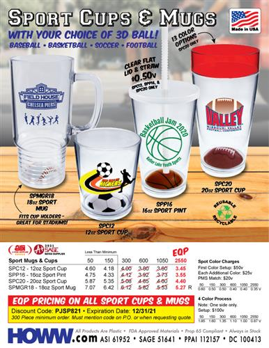 Sport Cups & Mugs - Made in the USA