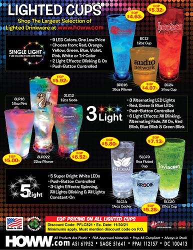 EQP Special on All Light-Up Cups - Made in the USA