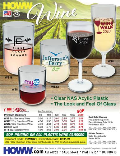 Acrylic Wine Glasses for Any Occasion - Made in the USA!