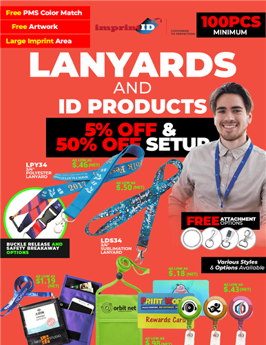 5% off and 50% off Lanyards & ID Products