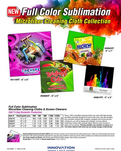Microfiber  Cleaning Cloth Collection - Full Color Sublimation