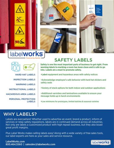 Safety Labels from LabelWorks