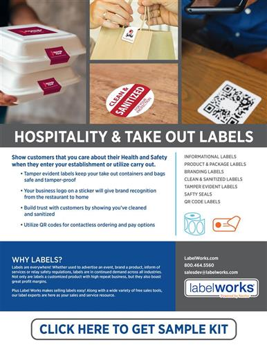 Hospitality & Take Out Labels