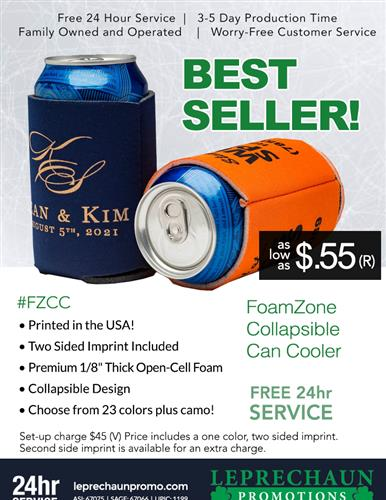 Industry's Best Can Cooler, Low Price and Free 24 Hr Svc