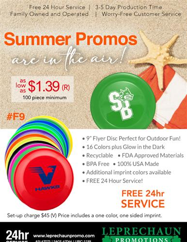 Summer Fun is Here with Free 24 Hr Svc From Leprechaun