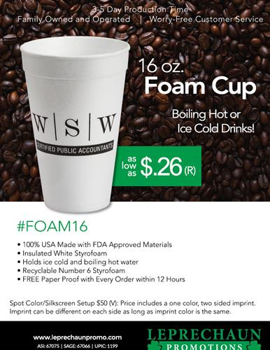 Best USA Made Insulated 16oz Cup as low as $.26 (R)