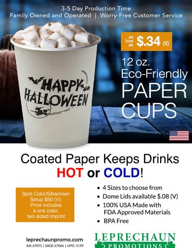 Fast Ship Disposable Coated Paper Cups