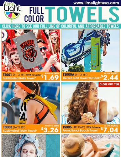 Sublimated Towels are this Month's Hottest Promo