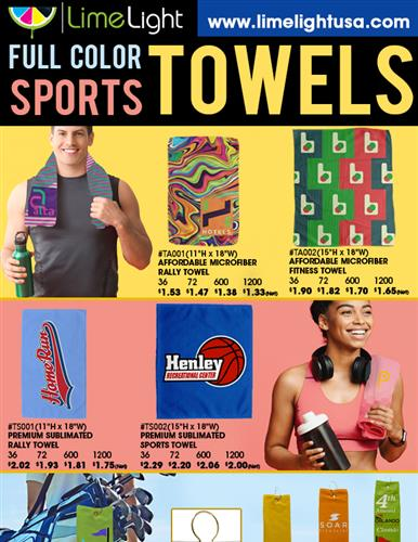 Full Color Towels In Stock and Ready to Ship