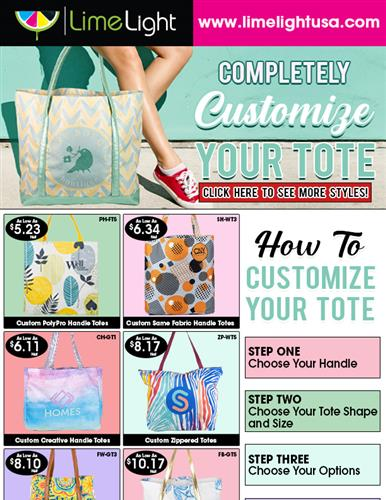 Try Customizing Your Next Tote Order with Limelightusa