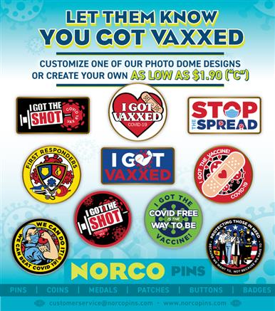 Got Vaxxed? Let them know with lapel pins!