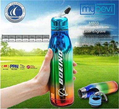 Laser Engraved Rainbow Bali Bottle!