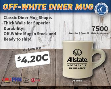 DINER MUG IN STOCK AND READY TO SHIP!