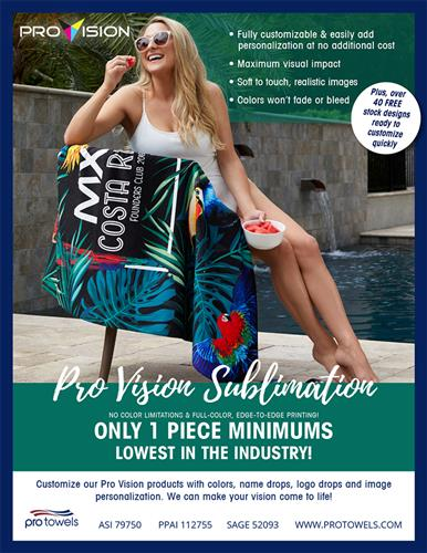 Check out our fully customizable beach towels with only 1 piece minimums!
