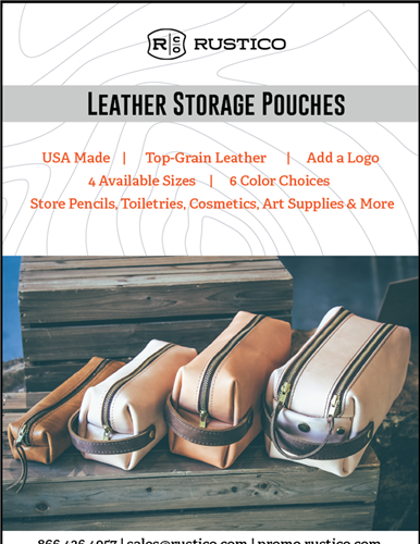 Versatile leather pouches: Choose from 4 sizes