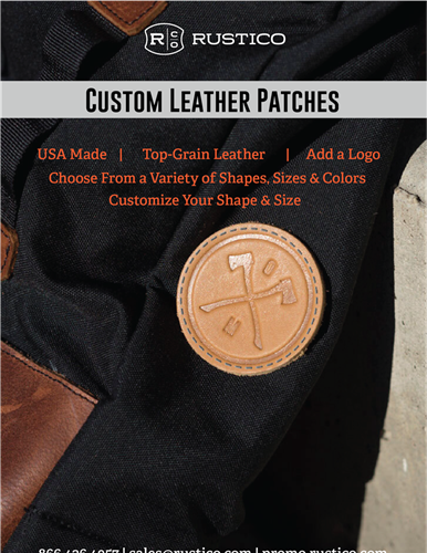 Leather patches in a variety of sizes, shapes, and colors