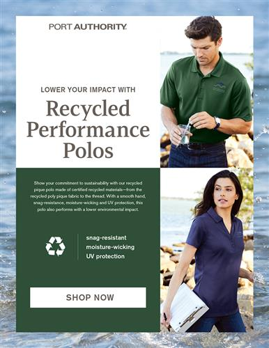 Lower Your Impact - Recycled Performance Polos