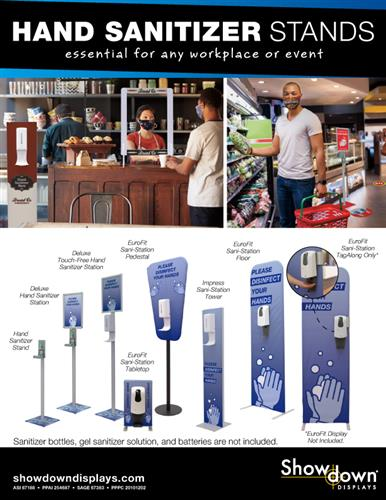 Hand Sanitizer Stands for any workplace or event!