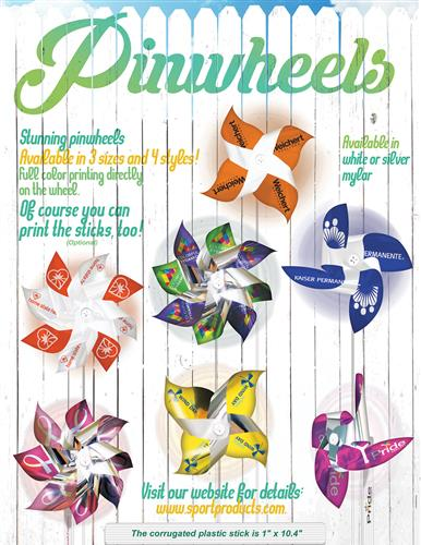 Full Color Pinwheels - 4 styles in 3 sizes!