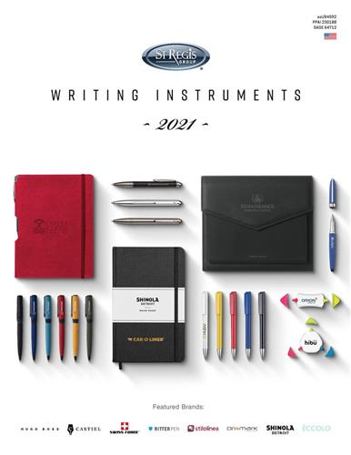 St Regis Group 2021 Writing Instruments Catalog