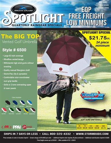 Spotlight Special: The Big Top Vented Golf Umbrella