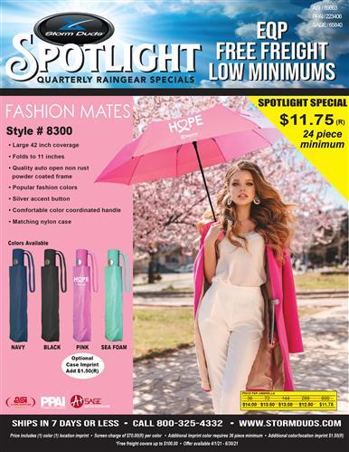 Storm Duds Folding Fashion Umbrella