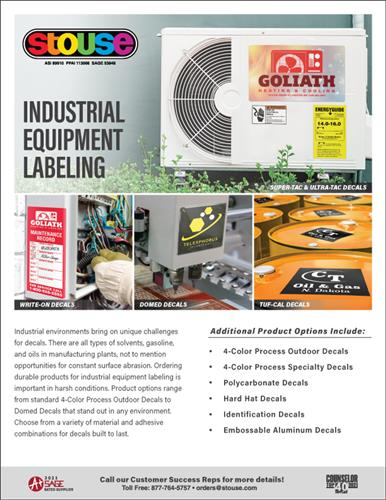 Decal Solutions for Industrial Equipment